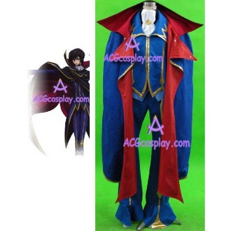 Code Geass Zero cosplay costume blue version