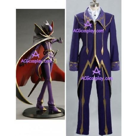 Code Geass Zero cosplay costume purple blue version