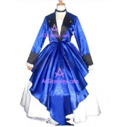Chobits Chii Blue Lolita dress cosplay costume with petti coat