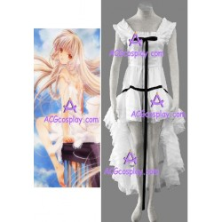 Chobits Chii lolita white cosplay costume