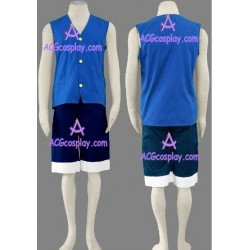One Piece Monkey D. Luffy blue version cosplay costume