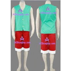 One Piece Monkey D. Luffy green version cosplay costume