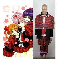 Shugo Chara Amu Hinamori Cosplay Costume with shawl