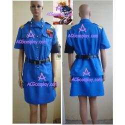 Hellsing Seras Victoria blue uniform cosplay costume
