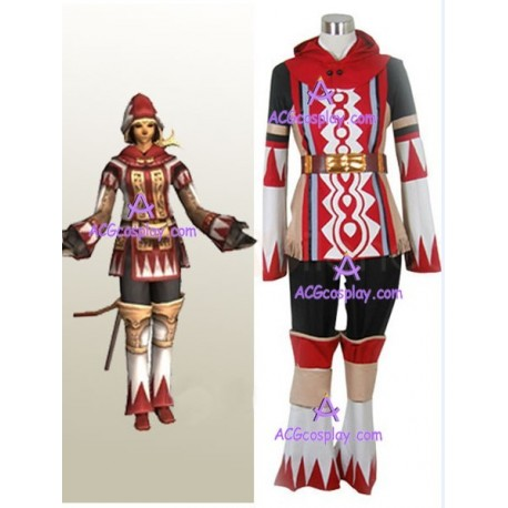 Final Fantasy XI 11 White Mage Cosplay Costume