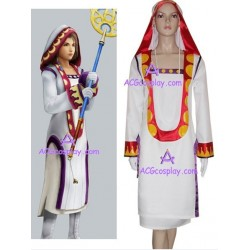 Final Fantasy XII White Mage Initial Staff Yuna cosplay costume