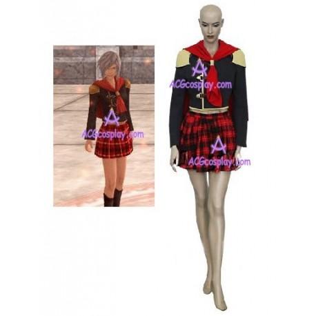 Final Fantasy XIII 13 Agito Girl Uniform cosplay costume