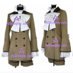 Black Butler Kuroshitsuji Ciel Phantomhive grey color cosplay costume