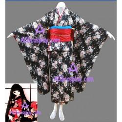 Hell Girl Jigoku Shojo Enma Ai kimono cosplay costume