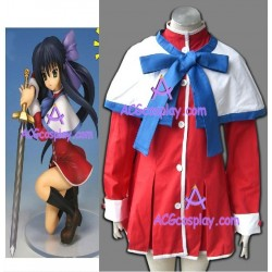 Kanon Blue bow version girl school unifrom cosplay costume