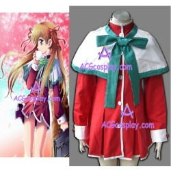 Kanon green bow version girl school unifrom cosplay costume