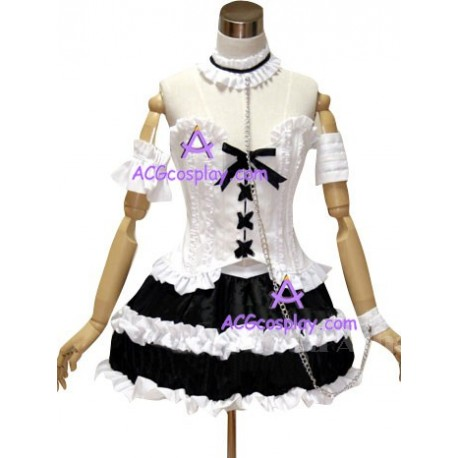 Neon Genesis Evangelion Ayanami Gothic Lolita dress cosplay costume