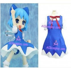 Touhou Project Cirno Cosplay Costume