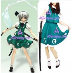 Touhou Project Youmu Cosplay Costume