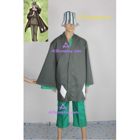 Bleach Urahara Kisuke Men's Cosplay Costume incl. hat