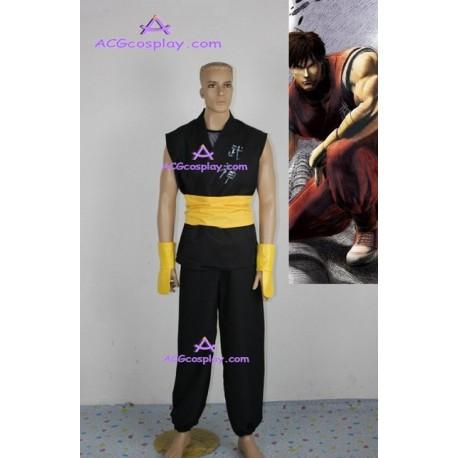 Street Fighter Zero 3 Guy Cosplay Costume black version