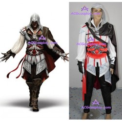 Assassins Creed II 2 Ezio Cosplay Costume include big buckle HIGH QUALITY