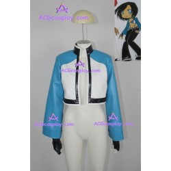 Rock Howard's jacket cosplay costume blue leatherette include gloves