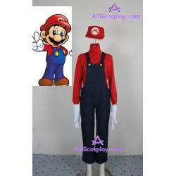 Super Mario Bros Mario cosplay costume and hat