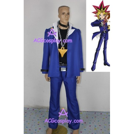 Yu-Gi-Oh Yugi Mutou Cosplay Costume and necklace prop