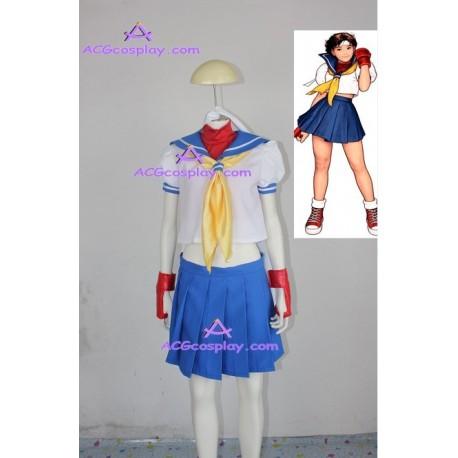 Street Fighter Sakura cosplay costume