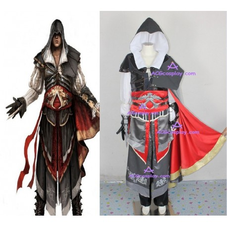 Assassin's Creed II Ezio Cosplay Costume TOP quality include BUCKLE