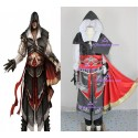 Assassin's Creed II Ezio Black Cosplay Costume top quality include buckle