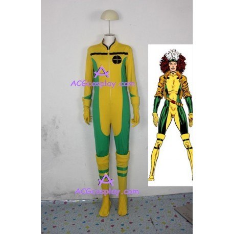 X-men Rogue cosplay costume jump suit style