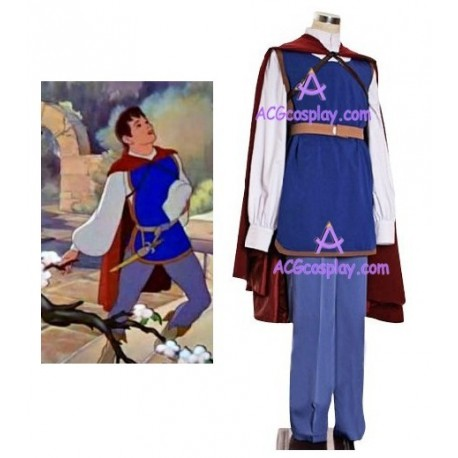 Snow White and the Seven Dwarfs Prince Cosplay Costume