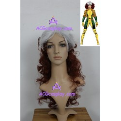 X-men Rogue cosplay wig 17inch curly wig cosplay wig