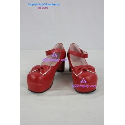 commissioned Lolita shoes 2.8inch heel red lolita shoes