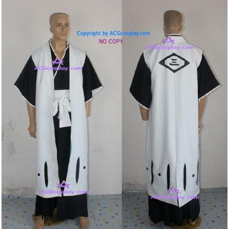 Bleach 3rd Division Captain Ichimaru Gin Cosplay Costume ACGcosplay