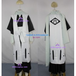 Bleach 6th Division Captain Kuchiki Byakuya Cosplay Costume inc.gloves and scarf