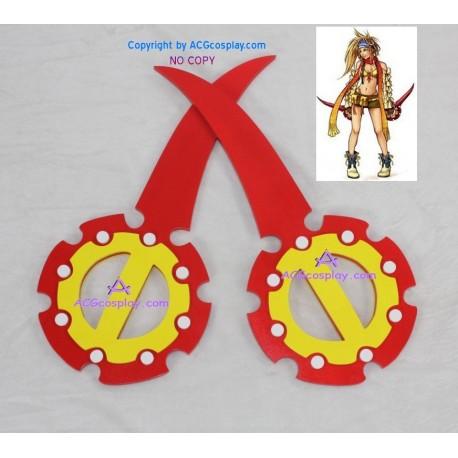 Final Fantasy X 10 Rikku Double Flywheel Weapon cosplay props