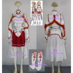 Sword Art Online Asuna Yuuki Cosplay Costume high quality