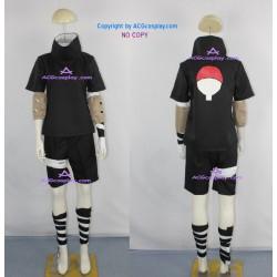 Naruto Sasuke Uchiha black cosplay costumes
