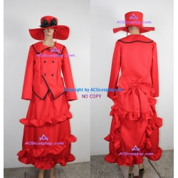 Black Butler Kuroshitsuji Madam Red Angelina Dalles cosplay costume