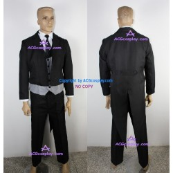 Black Butler Kuroshitsuji Sebastian Michaelis Cosplay Costume version 2