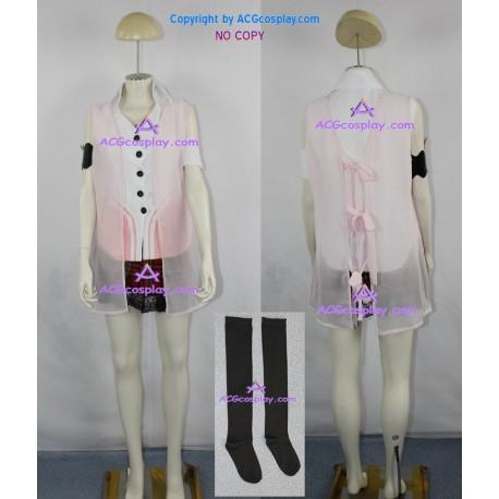 Final Fantasy XIII 13 Serah Farron cosplay costume include stockings ACGcosplay