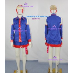 Vocaloid Kasane teto Cosplay Costume include headphone prop