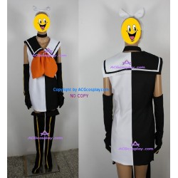 Vocaloid Kagamine Rin Cosplay Costume include hair ornament and stockings