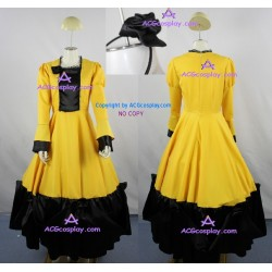 Vocaloid Kagamine Rin lolita dress cosplay costumes big skirt lady skirt dress include petticoat