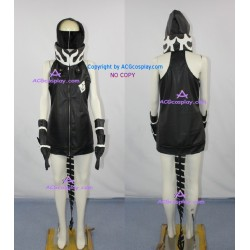 Vocaloid Black Rock Shooter Strength Cosplay Costume faux leather made