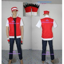 pokemon Ash Ketchum cosplay Costume include cap red costume version