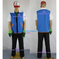 Pokemon Ash Ketchum Cosplay Costume include cap