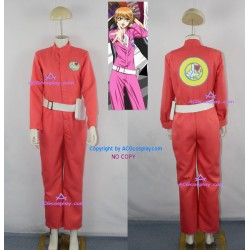 Skip Beat Kyoko Mogami Pink Jumpsuit Cosplay Costume with belt and bag