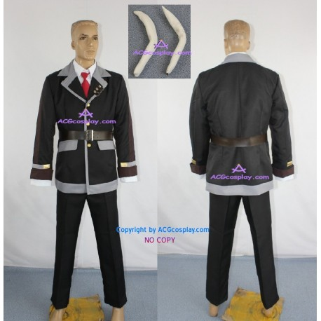 Alice in the Country of Hearts Peter White Cosplay Costume include long ears and belts