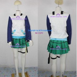 Rosario+Vampire Mizore Shirayuki cosplay costume green skirt version