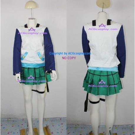 Rosario+Vampire Mizore Shirayuki cosplay costume green skirt version