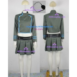 Katekyo Hitman Reborn! Chrome Dokuro Cosplay Costume include eyepatch and belt